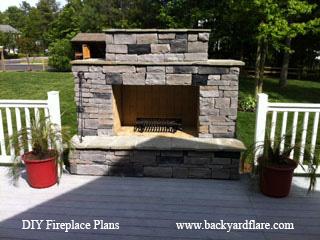 OutdoorFireplace with deck